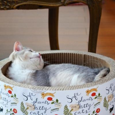 Zooboom》瓦楞紙圓形蛋糕貓窩貓抓板-36*15cm