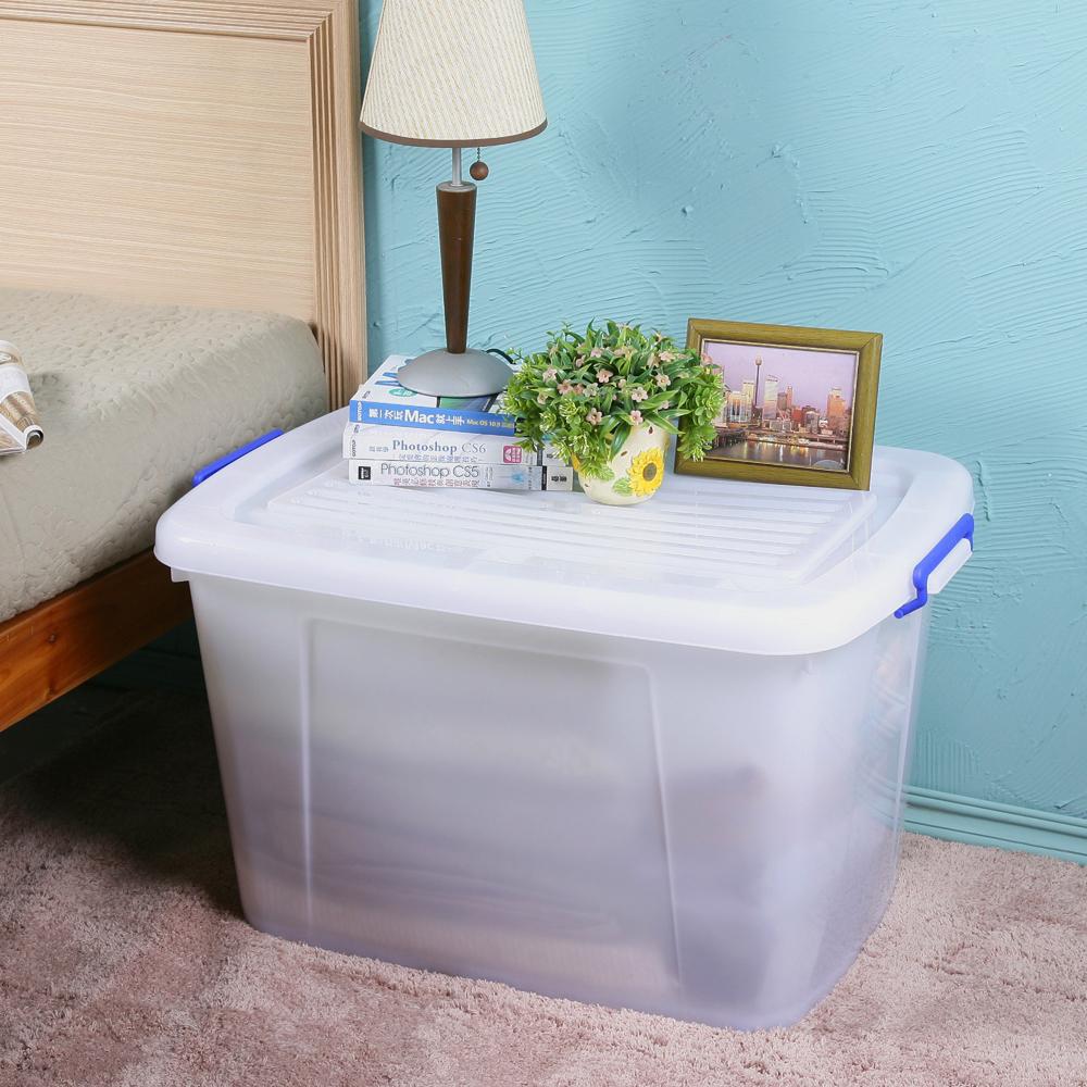 創意達人多用途滑輪收納整理箱130L(3入)