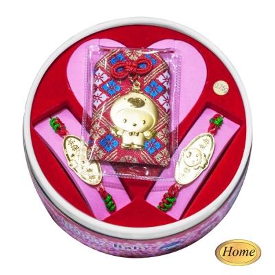 家家金品-永保安康雞(2分)套組(3件組)滿月禮