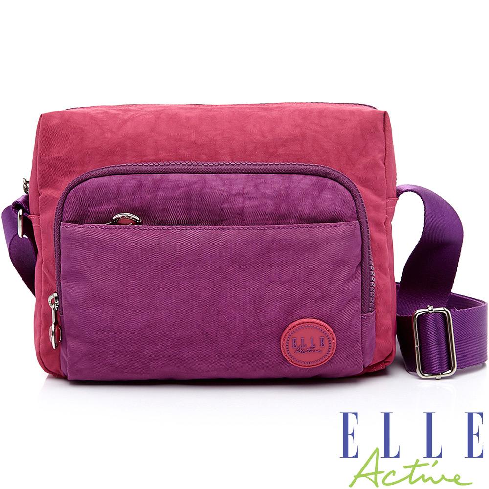 ELLE-城市微旅行系列-側背包(小)-桃紅色