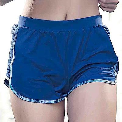 華歌爾-專業運動  M-LL 短褲(藍)吸濕快乾