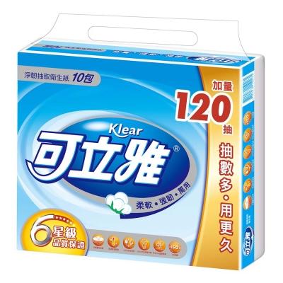 可立雅抽取衛生紙(90+12抽x10包)/串