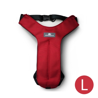 Sleepypod 寵物旅者安全胸背帶-紅L
