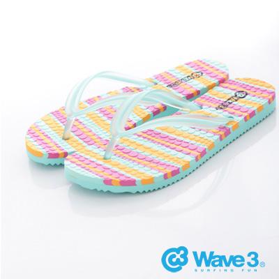 WAVE 3 【女】台灣製果凍人字夾腳拖~果綠