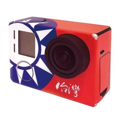 GoPro HERO 4 3+ 3 彩版(國旗)+透明主機保護膜 機身膜