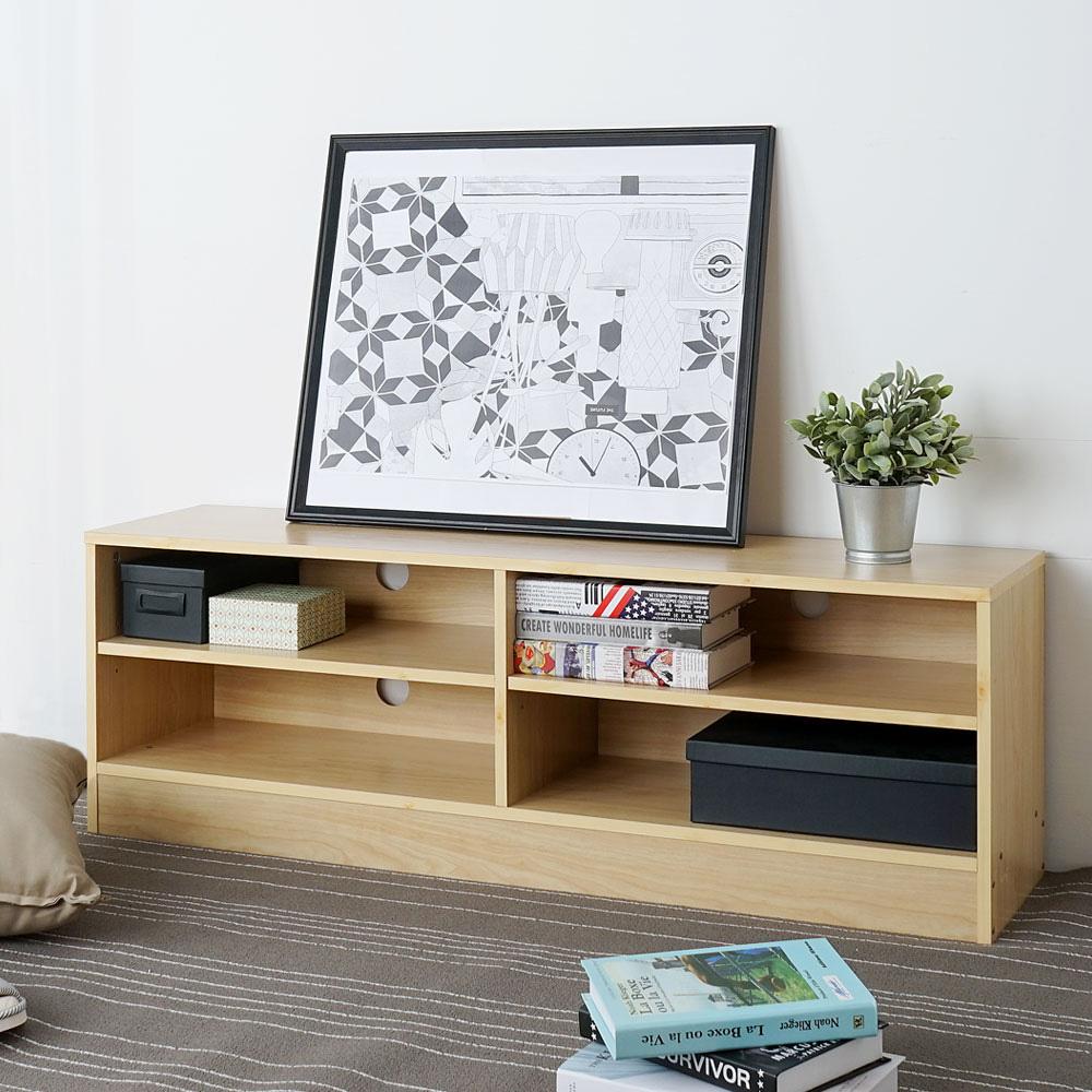Homelike 艾爾四格電視櫃(兩色可選)-120x30x40cm
