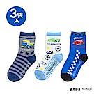 Sanrio 汽車宇宙 3入兒童短襪16-18cm(條紋星)