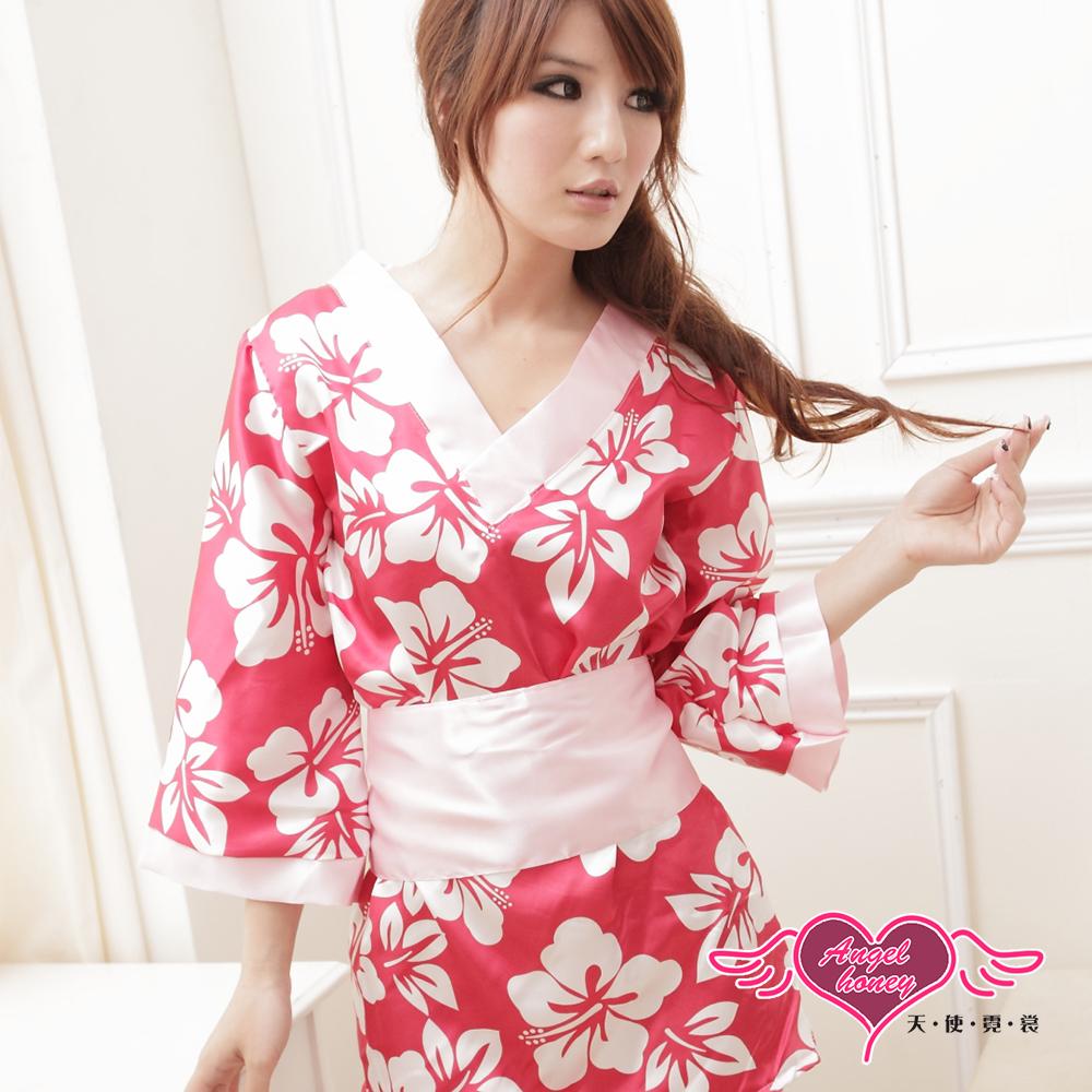 角色扮演 美姬物語 日系性感和服表演派對服(紅F) AngelHoney天使霓裳