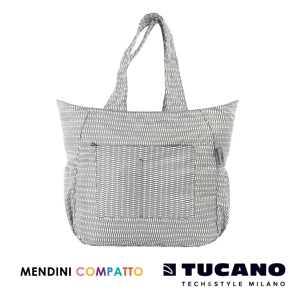 TUCANO X MENDINI 設計師系列超輕量折疊收納托特包-白