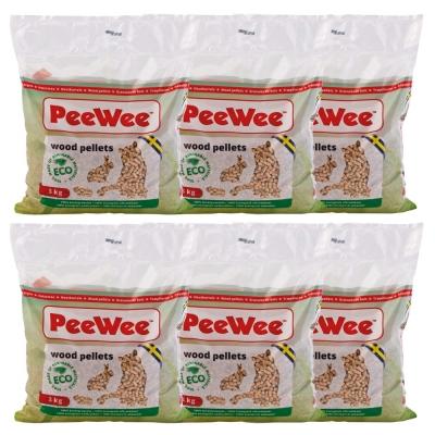 PeeWee必威 強效松木砂 3kg x 6包入