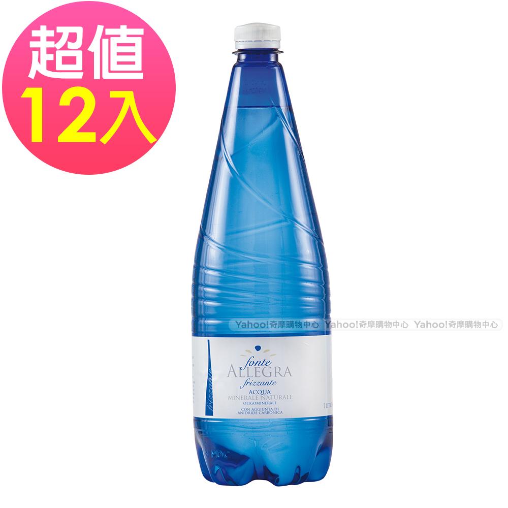 義大利進口 亞莉佳 微氣泡礦泉水(1000mlx12入)