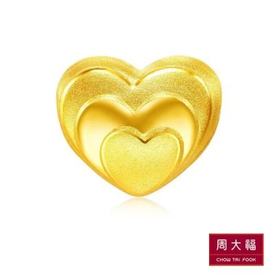 周大福 迷你心型黃金吊墜(不含鍊)