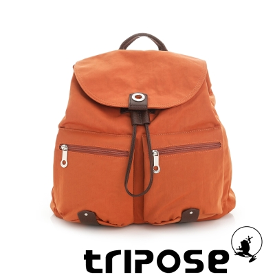 tripose MOVE系列輕休閒翻蓋機能後背包(小) - 橘