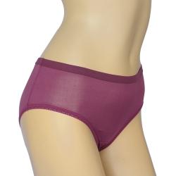 三角褲 100%蠶絲簡約少女內褲2件組M-XL(紫)Seraphic