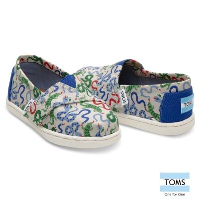 TOMS 塗鴉蛇懶人鞋-幼童款