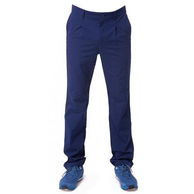 【hilltop山頂鳥】男款超潑水抗UV彈性合身長褲S07MA1-藍