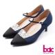 bac古典高雅-閃亮拼接雙色尖頭瑪莉珍高跟鞋