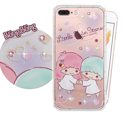 正版KiKiLaLa雙子星 iPhone 7 plus 施華洛世奇 彩鑽氣墊保護...