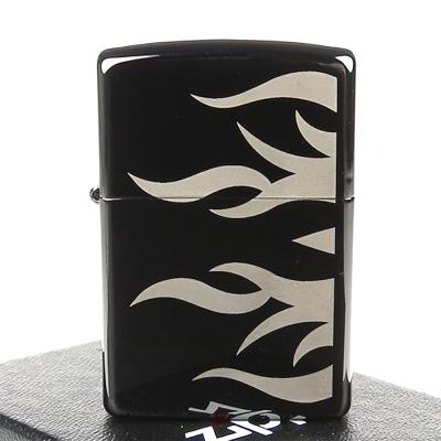 ZIPPO美系-Tattoo Flame-火焰雕刻雙面加工打火機