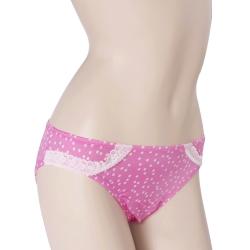 三角褲 100%蠶絲星光點點內褲2件組M-XL(粉紅)Seraphic