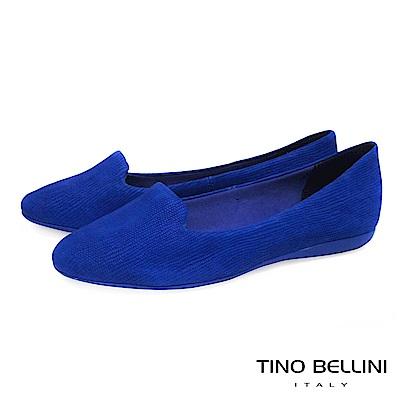 Tino Bellini 巴西進口石頭壓紋舒足樂福鞋_ 藍