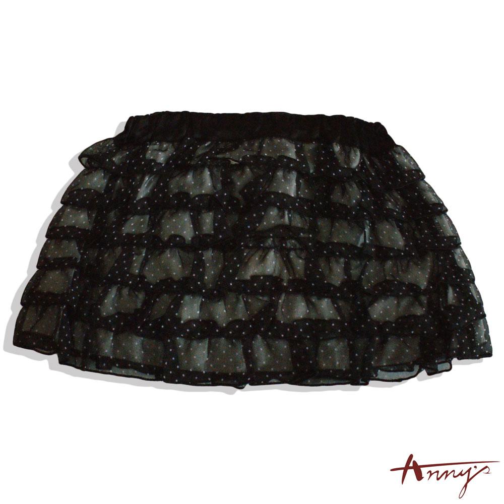 小玉點點網紗蛋糕短裙*0117黑