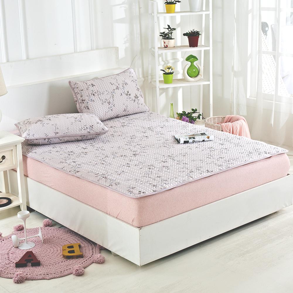 Lily Royal 天絲-加大 平單式涼蓆/軟蓆枕套組-織花