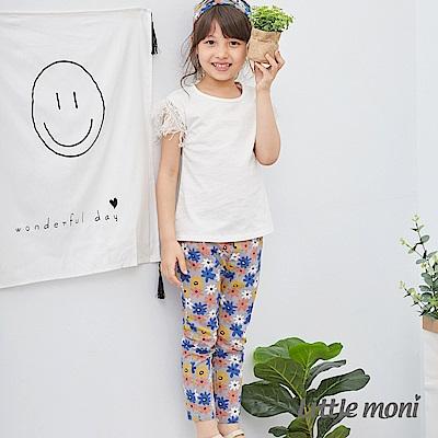 Little moni 多彩印圖彈性合身褲 (共2色)