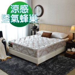 MG珍寶-Cool涼感抗菌-蜂巢獨立筒床墊-雙人5尺