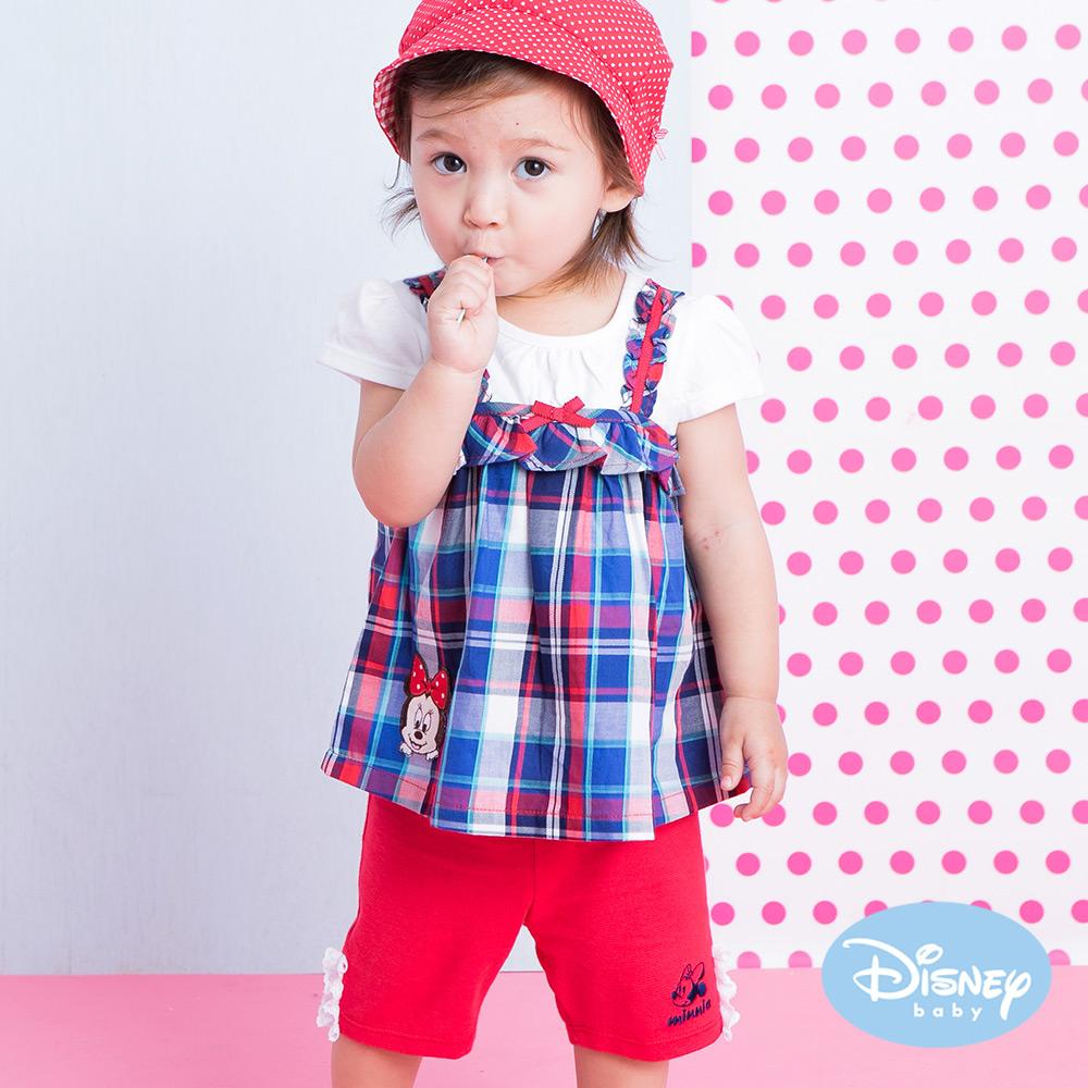 麗嬰房 Disney Baby 米妮小蕾絲女孩短褲 大紅