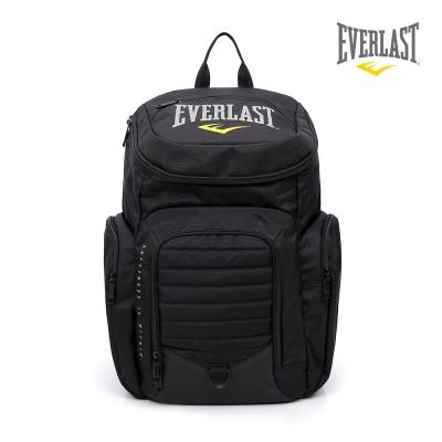 EVERLAST 拳擊運動品牌-雙肩圓頂後背包-黑