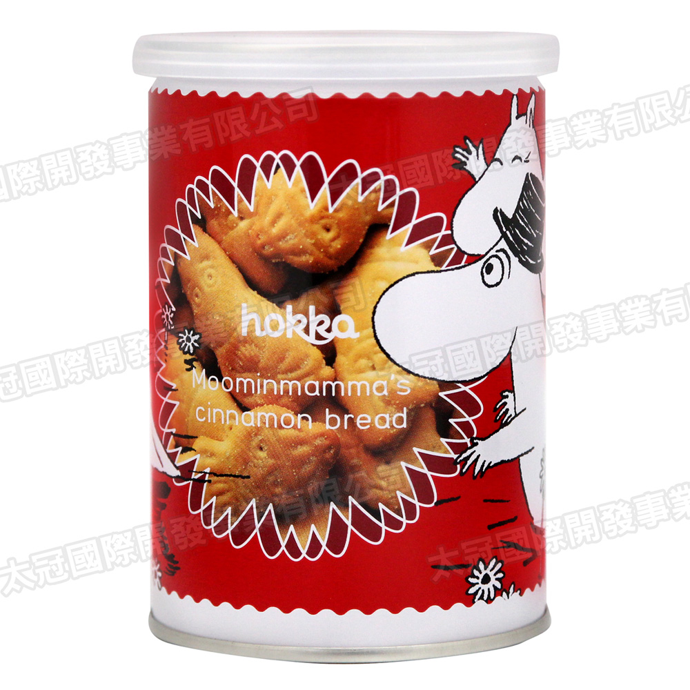 北陸製果 嚕嚕米造型罐裝餅乾(90g)