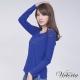Victoria 貼鑽骷髏長袖T-女-寶藍 product thumbnail 1