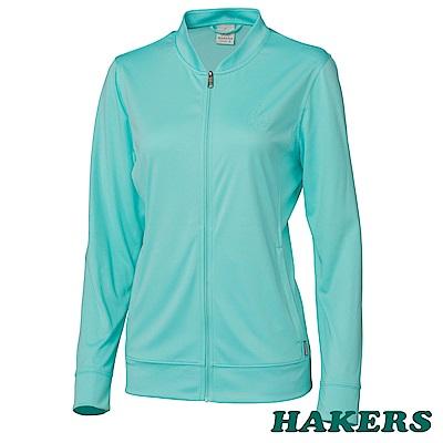 HAKERS女-2.5L時尚休旅外套-海灣綠