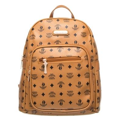 【XINWEI POLO】奢華LOGO風大容量後背包(141031)-棕色