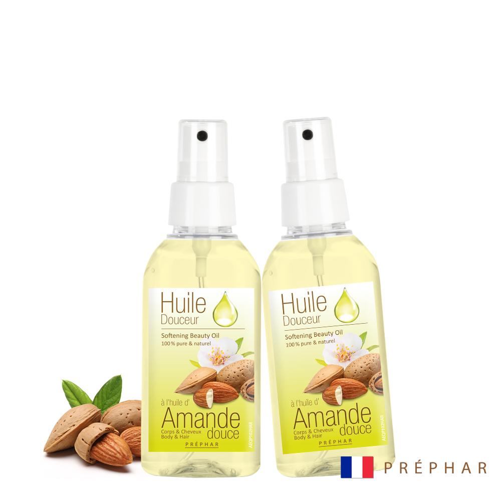 (買一送一)法國PREPHAR植萃精華按摩油/甜杏仁油100ml