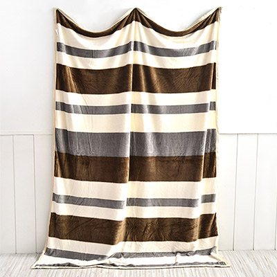 美夢元素 超柔舒適法蘭絨冬毯 簡約旅程(200*150cm)