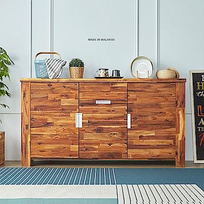 H&D 奧瑞鄉村系列原木5.3尺餐櫃 (寬160X深42X高85cm)