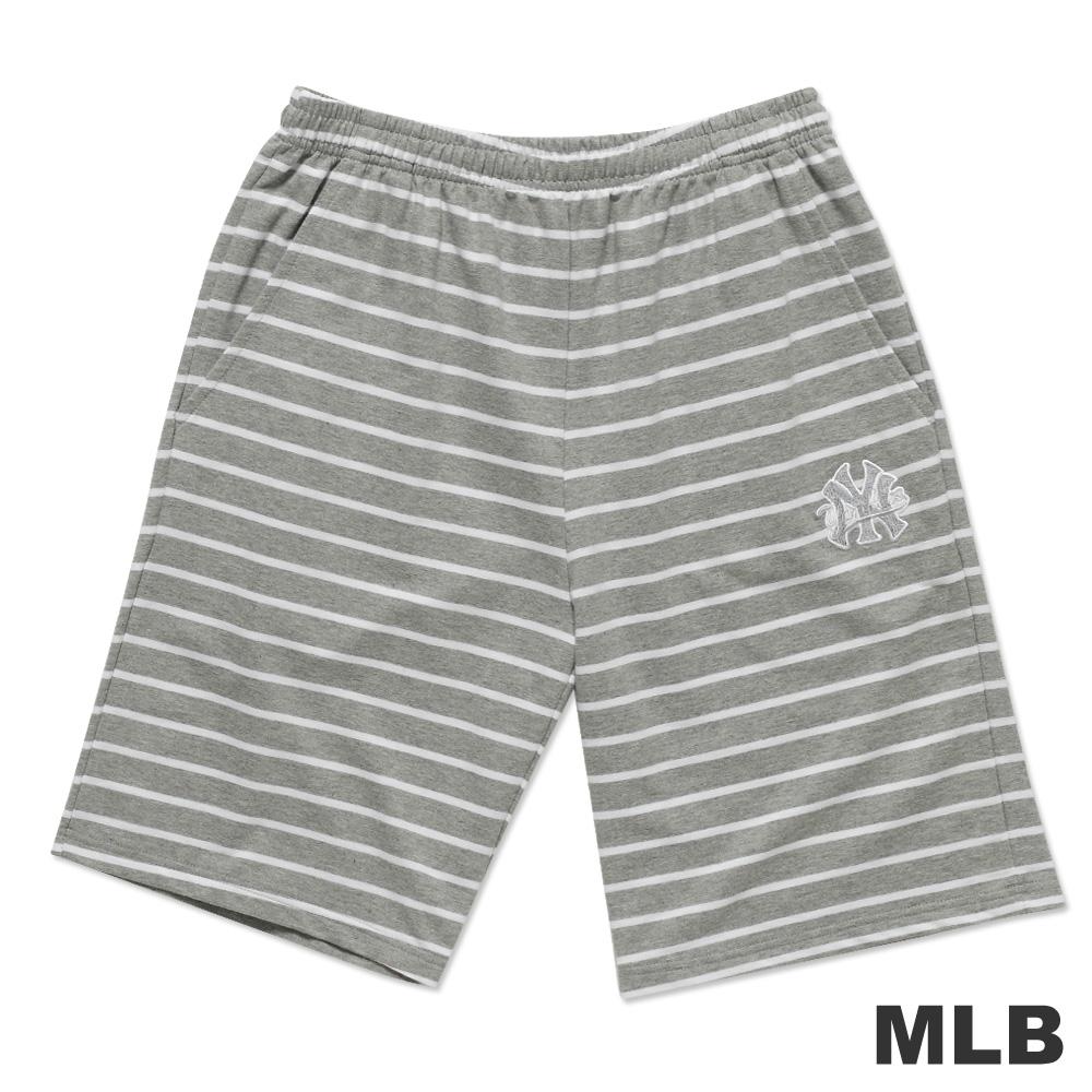 MLB-紐約洋基隊電繡條紋運動短褲-麻灰(男)