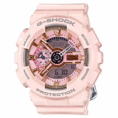 G-SHOCK 時尚貴婦摩登雙顯錶(GMA-S110MP-4A1)-粉紅
