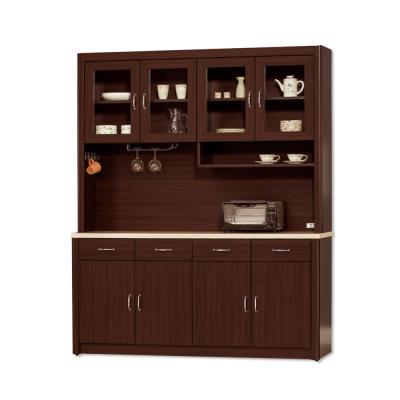 Bernice-文斯5.3尺石面碗盤收納餐櫃組(上+下座)-160x43x203cm