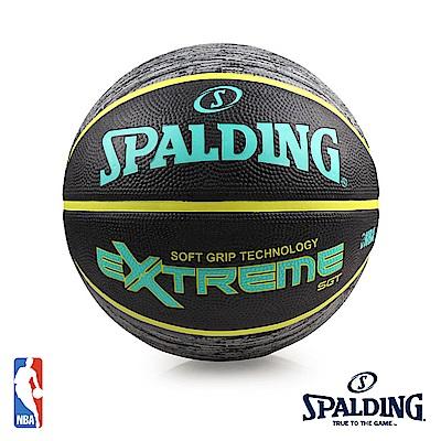 SPALDING SGT 深溝柔軟膠 #7 青檸黃 籃球 SPA83499