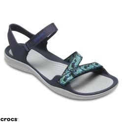 Crocs 卡駱馳 (女鞋) 激浪織帶涼鞋 204804-410