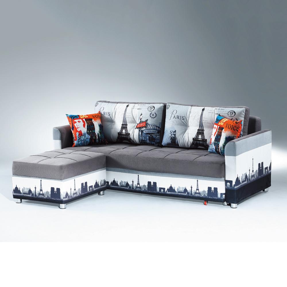 AS-愛得乃納收納式L型沙發床-217x196x76cm