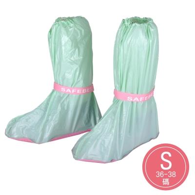 輕便型高筒防水雨鞋套-(果綠) (4入組)
