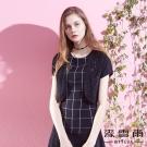 麥雪爾 蕾絲織花短版開襟罩衫