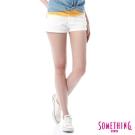 SOMETHING NEO色短褲-女-白色