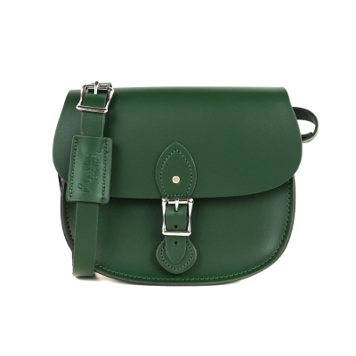 The Leather Satchel 英國手工牛皮馬鞍包 手拿 肩背包 郵差綠