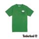 Timberland 男款綠色素面貼布印花短