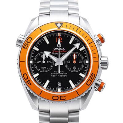 OMEGA-歐米茄-Planet-Ocean-600米計時鍊帶橘面腕錶-45-5mm